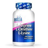 L-arginine, l-ornithine, l-lysine - 100 caps