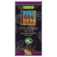 Extra black chocolate tablet rapunzel - 80g