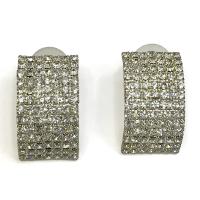 White square earrings