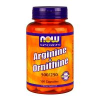 NOW Arginine/Ornithine - 100 capsules