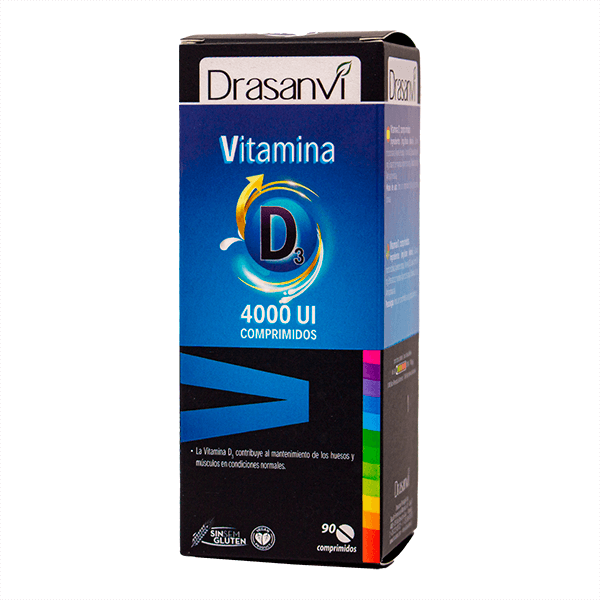 Vitamine D3 4000ui - 90 comprimés Drasanvi - 1