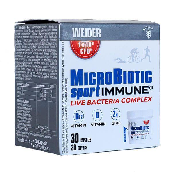 Microbiotic sport inmune - 30 capsules Weider - 1