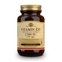Vitamine D3 (Colécalciférol) 2200IU (55mcg) - 100 capsules végétables Solgar - 1