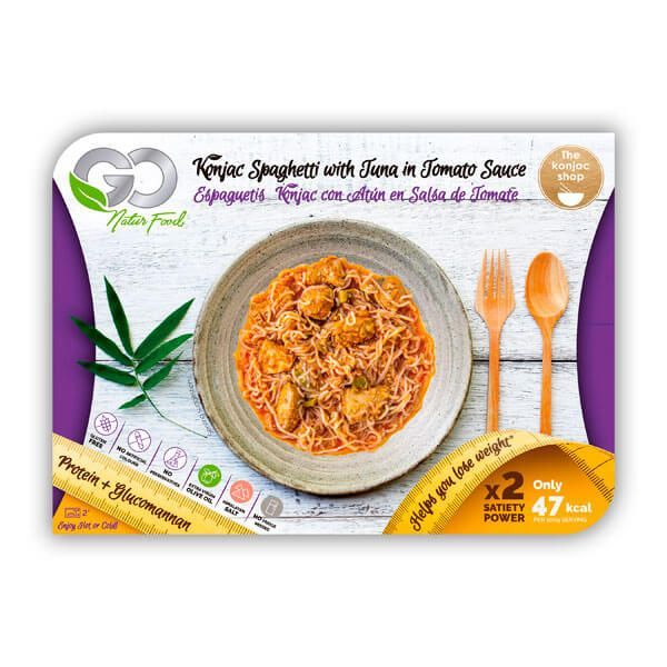 Spaghetti de Konjac au Thon avec Sauce Tomate - Go Natur Foods
