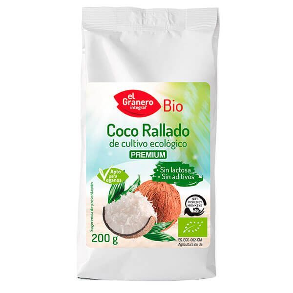 Organic grated coconut - 200g