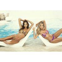 Bikini strapless nylon spandex