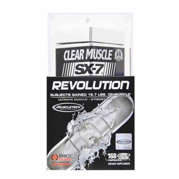 Clear Muscle SX-7 Revolution - 168 Cápsulas [Muscletech]